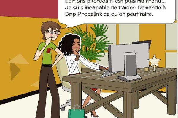 Anna Lyse sollicite Romain sur problème d'Editions Pilotée